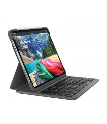 Logitech SLIM FOLIO PRO mobile device keyboard AZERTY French Graphite Bluetooth