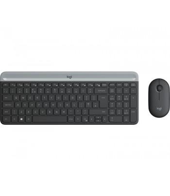 Logitech MK470 toetsenbord RF Draadloos QWERTZ Duits Grafiet