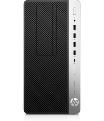 HP ProDesk 600 G5 9th gen Intel Core i5 i5-9500 8 GB DDR4-SDRAM 256 GB SSD Micro Tower Black PC Windows 10 Pro