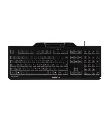 CHERRY KC 1000 SC USB AZERTY Belgisch Zwart
