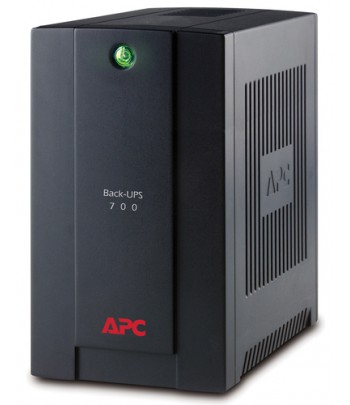 APC Back-UPS Line-Interactive 700VA 4AC outlet(s) Tower Black uninterruptible power supply (UPS)
