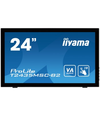 "iiyama ProLite T2435MSC-B2 23.6"" 1920 x 1080pixels Multi-touch Tabletop Black touch screen monitor"