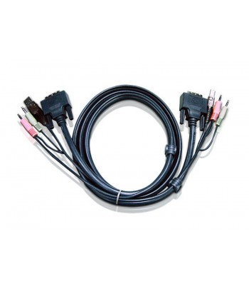 Aten 2L7D03U 3m Black KVM cable