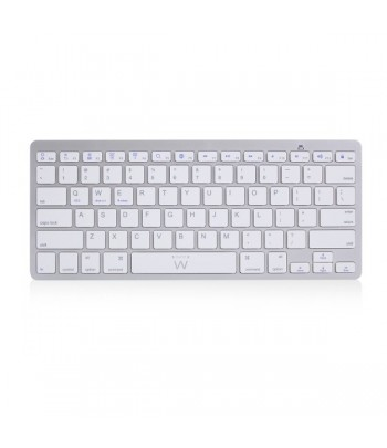 Ewent EW3163 Bluetooth QWERTY US International Silver, White keyboard