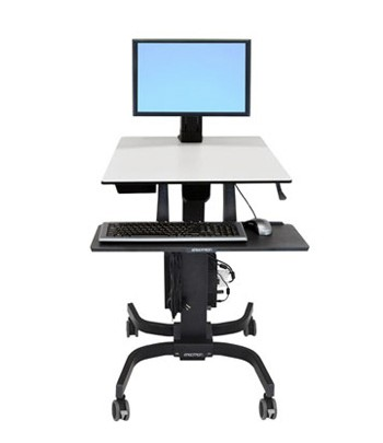 Ergotron WorkFit-C, Single LD Sit-Stand Workstation Multimedia cart Zwart, Grijs