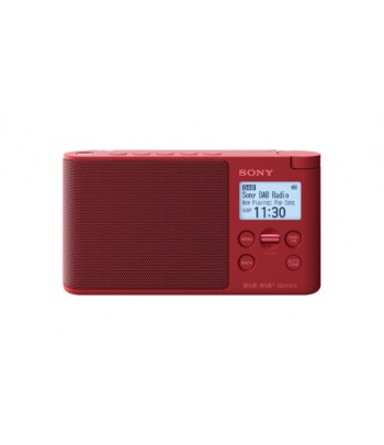 Sony XDR-S41D Portable Digital Red radio