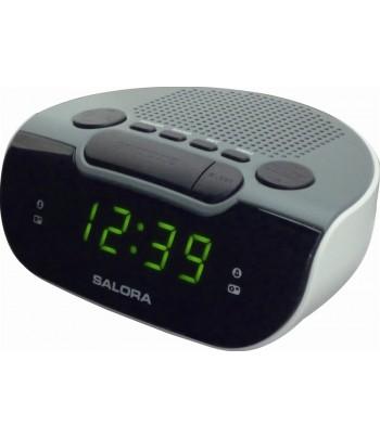 Salora CR612 Digital alarm clock Zwart, Grijs, Wit wekker