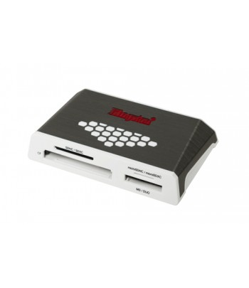 Kingston Technology USB 3.0 High-Speed Media Reader USB 3.0 Grijs, Wit geheugenkaartlezer