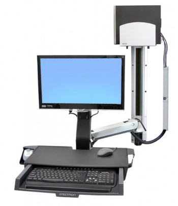 Ergotron StyleView Sit-Stand Combo System with Worksurface 24""
