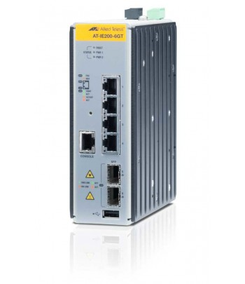 Allied Telesis AT-IE200-6GT Managed network switch L2 Gigabit Ethernet (10/100/1000) Black