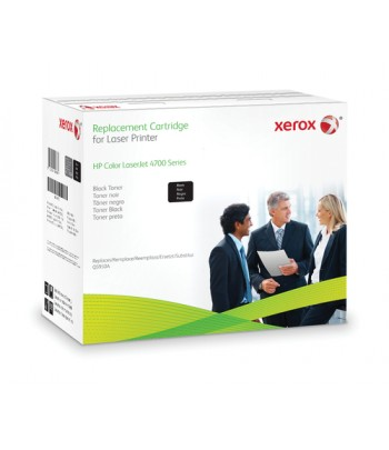 Xerox Black toner cartridge. Equivalent to HP Q5950A. Compatible with HP Colour LaserJet 4700