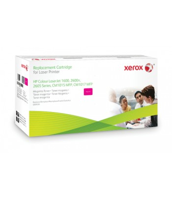 Xerox Magenta toner cartridge. Equivalent to HP Q6003A. Compatible with HP Colour LaserJet 1600, Colour LaserJet 2600/2605, Colo