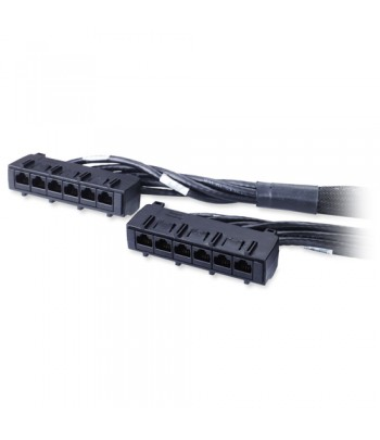 APC 17ft Cat6 UTP, 6x RJ-45 - 6x RJ-45 5.18m Cat6 U/UTP (UTP) Black networking cable